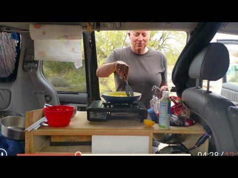 Kelly shows her indoor/outdoor van kitchen and Ultralight in Lake Havasu...