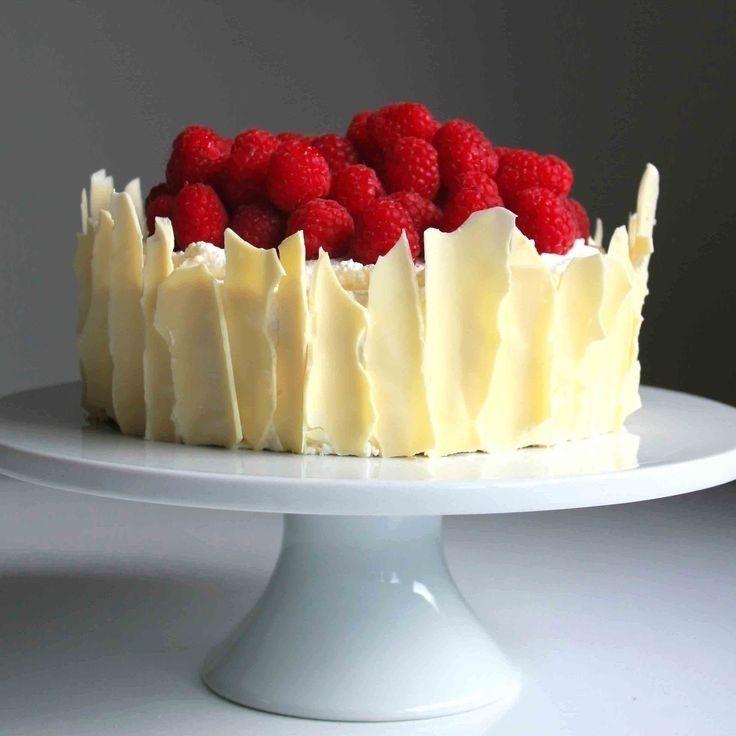 Lemon Raspberry Sponge Cake with White Chocolate Shards (Message from BigOven)