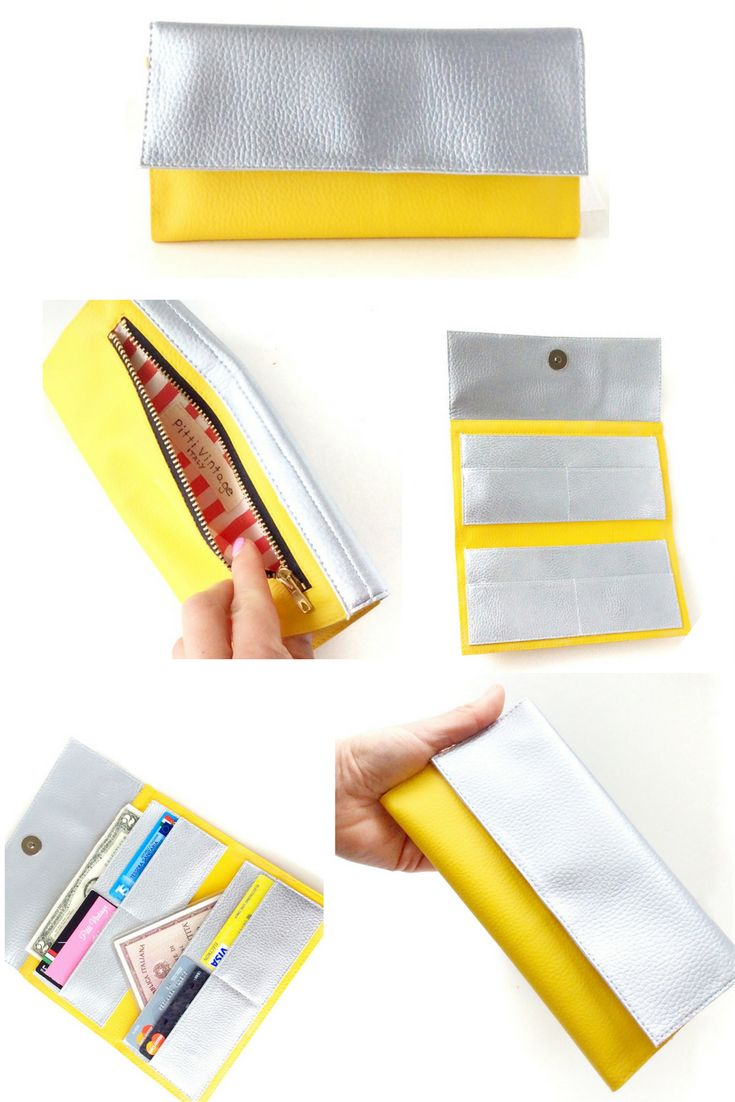 Once you pull this bright vegan wallet from your purse, don't expect it's two-tone design to go unnoticed! https://www.etsy.com/listing/469912596/vegan-minimalist-wallet-metallic-wallet?ref=shop_home_active_9