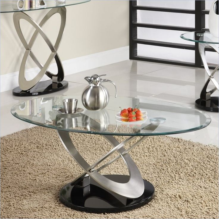 Homelegance Firth Cocktail Table in Chrome and Espresso - 3401-30 - Lowest price online on all Homelegance Firth Cocktail Table in Chrome and Espresso - 3401-30