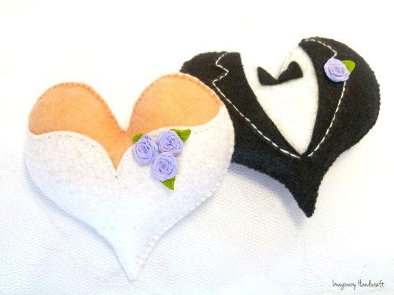 Bride and groom cake topper Door hanger by ImaginaryHandicraft