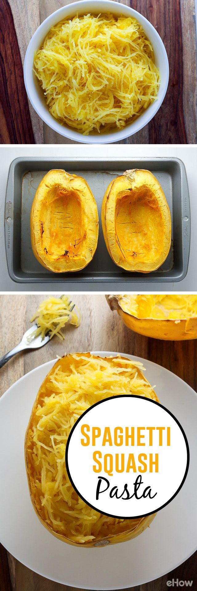Learn how to make this great pasta-substitute! It's so easy and this low-carb option tastes great! Get the instructions and the recipe here: http://www.ehow.com/how_8139855_shred-spaghetti-squash.html?utm_source=pinterest.com&utm_medium=referral&utm_content=freestyle&utm_campaign=fanpage