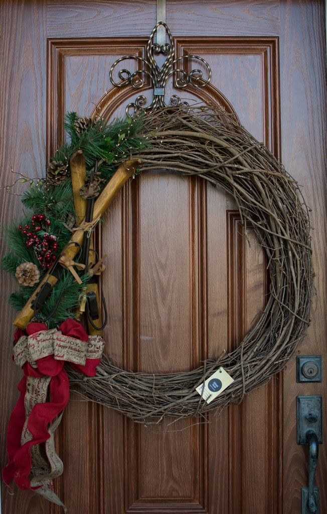 Holiday Ski Wreath
