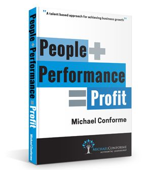 Book cover design for Michael Conforme's book People + Performance = Profit