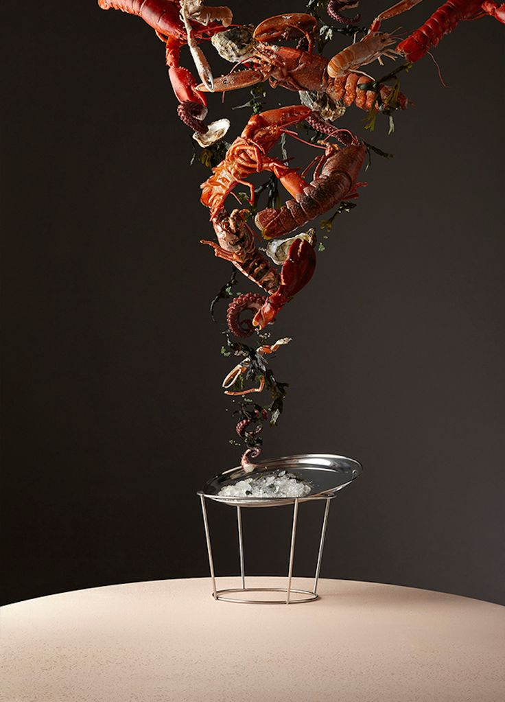 <p>British art director Gem Fletcher and photographer Aaron Tilley worked on these two editorial projects: Space Cakes and Indulgence – Food Weather. The first series for Gourmand shows weather