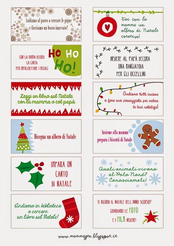 Aspettando il Natale: calendario dell'Avvento con attività (per tutta la famiglia)