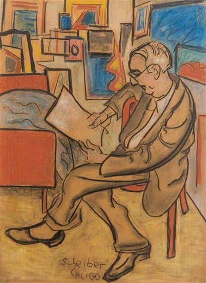 Hugó Scheiber (1873-1950) was een Hongaarse expresionistische schilder. Zijn werk was in eerste instantie in een post-impressionistische stijl, maar vanaf 1910 toonde hij zijn toenemende interesse in het Duits expressionisme. Een keerpunt in de carrière van Scheiber kwam toen Herwarth Walden , de oprichter van het toonaangevende Duitse avant-garde tijdschrift Der Sturm, interesse in het werk van Scheiber kreeg en zijn schilderijen regelmatig in het tijdschrift en elders verschenen.