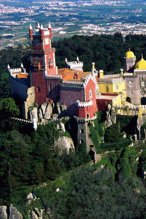 Sintra: a beautiful mountain city with a gorgeous palace. Only a few miles out of the city and can take the train to get there.