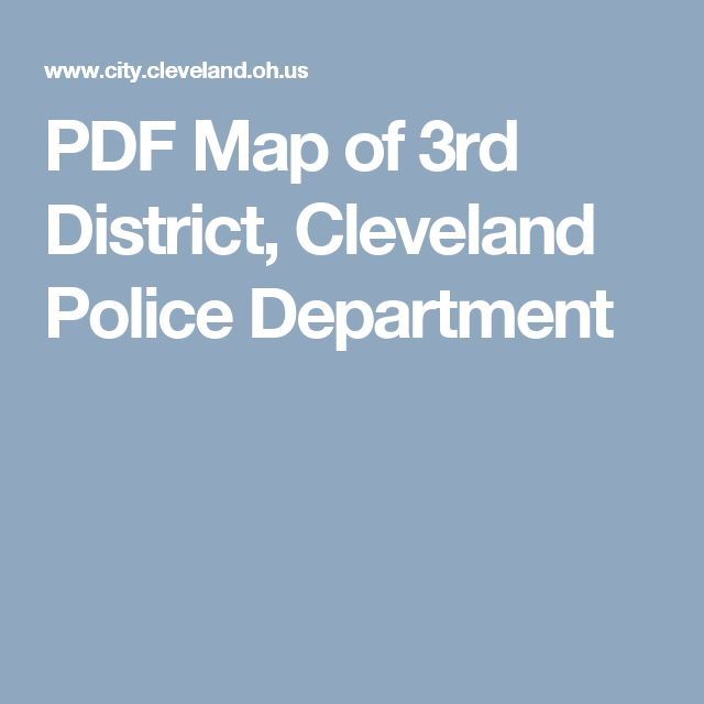 PDF Map of 3rd District, Cleveland Police Department