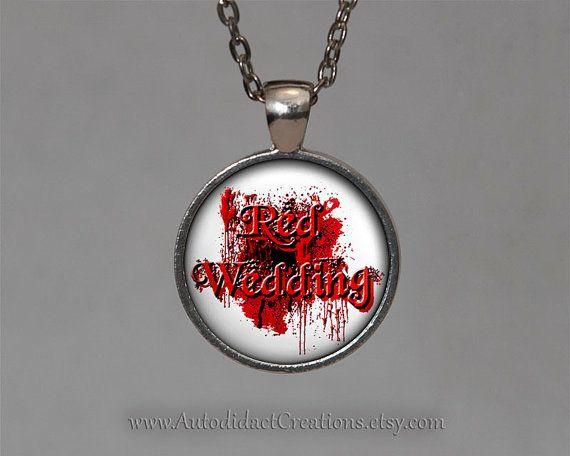 Red Wedding Game of Thrones Jewelry, Red Wedding Necklace, Red Wedding Jewelry, Game of Thrones Necklace, Robb Stark, Jon Snow Daenerys Gift.... www.autodidactcreations.etsy.com