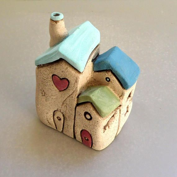 Little House Home Sweet Home Sculpture Grey House Hand Etsy Pottery Houses Ceramic Houses Handmade Home Decor