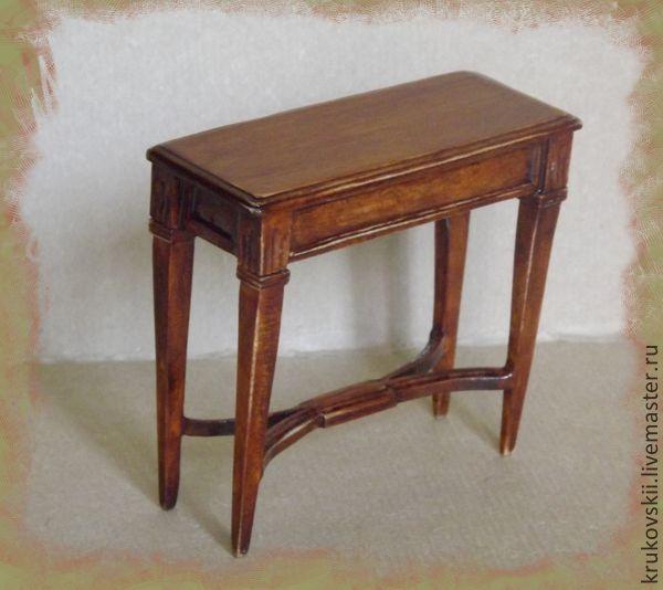 http://cs1.livemaster.ru/storage/d2/92/d7d0e2db1544bf9c99f8f489e2-kukly-igrushki-miniatyurnyj-konsolnyj-stolik.jpg Dollhouse. Miniature furniture