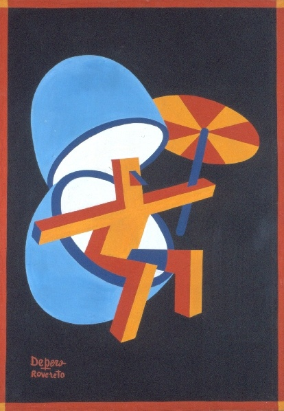 """Fortunato Depero - Locandina pubblicitaria Uova Sorpresa """"Unica""""  1927"""