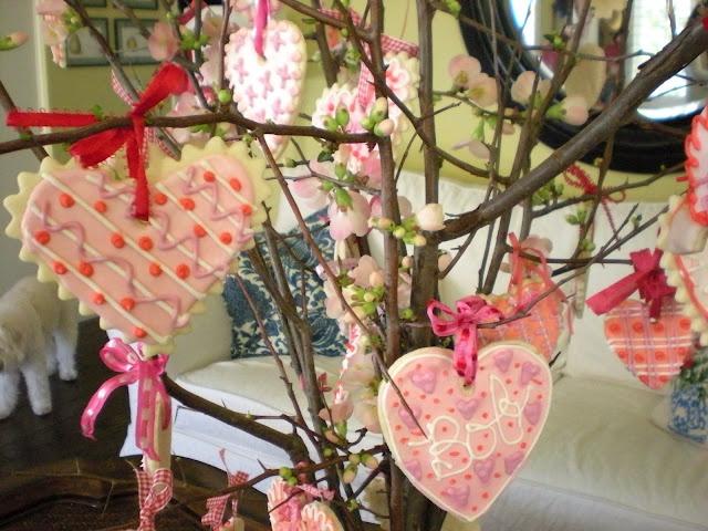 Valentine cookie tree....cute