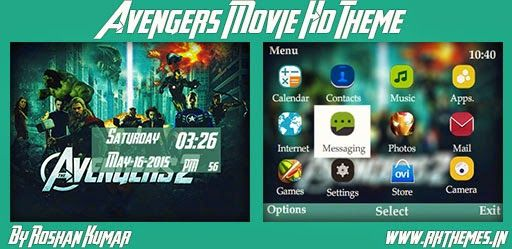 Avengers Movie HD Theme For Nokia C3-00, X2-01, Asha 200, 201, 205, 210, 302 & 320×240 Devices ~ Rkthemes | Download Free Themes For Nokia and Android Phones