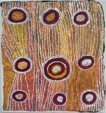 Maggie Napangardi Watson  Karntakurlangu Jukurrpa (Women Dremaing)  1993  Synthetic Polymer Paint on Belgium Linen  54 x 47 cm  $4,750 AUD