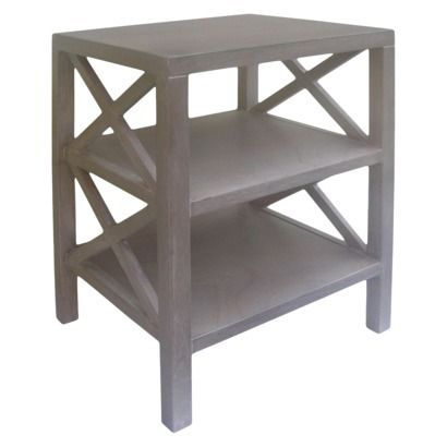 X-table accent table | look for less | $79 | gray wash