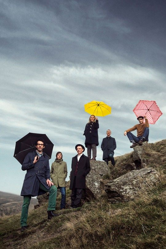 Belle and Sebastian; Chris Geddes, far right