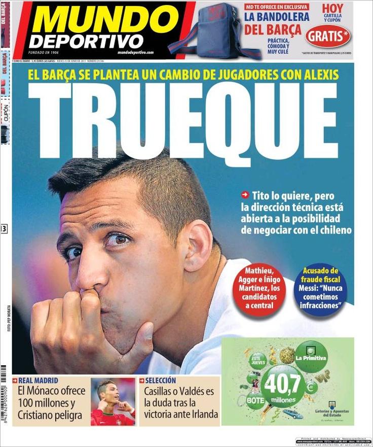 Los Titulares y Portadas de Noticias Destacadas Españolas del 13 de Junio de 2013 del Diario Mundo Deportivo ¿Que le parecio esta Portada de este Diario Español?