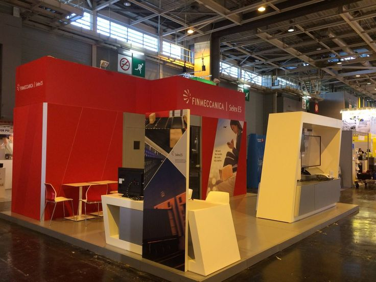 Allestimento stand per Selex Es presso Post Expo World's Postal, Parcel and Cour #booth #exhibition #fiera villaniandco.it