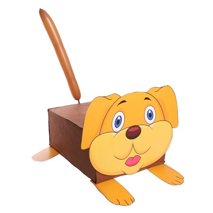 Hond surprise maken pakket. Compleet basis bouwpakket om een surprise van een hond te maken. Dit pakket bestaat uit de basismaterialen en instructies die u nodig heeft om een hondje te knutselen van ongeveer 38 x 50 cm, zoals op de 1e afbeelding. Daarna kunt u de surpise naar eigen wens versieren en personaliseren. Extra nodig: - Lijm - Schaar - Plakband / tape Ruimte voor kado: In het doosje is een ruimte van ongeveer 35 x 24 x 12 cm.