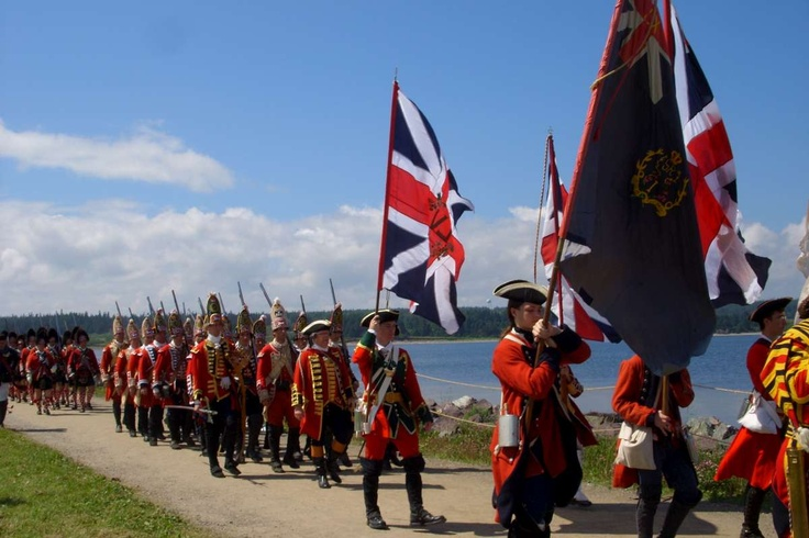 French and Indian War, historical reenactment, Louisbourg, Nova Scotia.