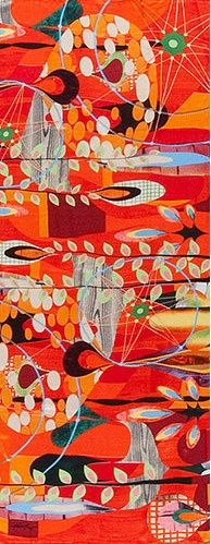 Rex Ray Silk Scarf, there's a gallery in sf I would love to visit
