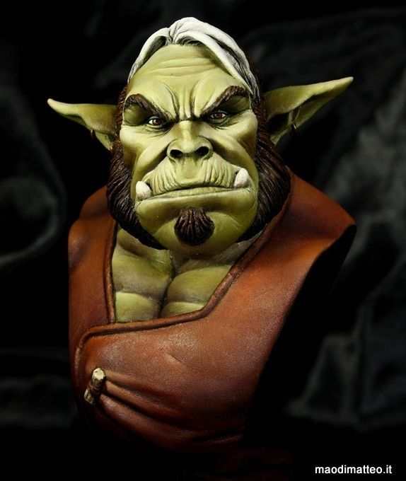 Gmor bust (based on Italian comic Dragonero) by Carmine Giugliano · Putty&Paint