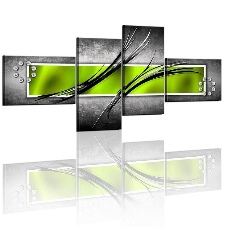 200x92 !!! RIESEN-FORMAT + Bild auf Leinwand + 4 TEILIG + Abstrakt - wandbilder für die küche