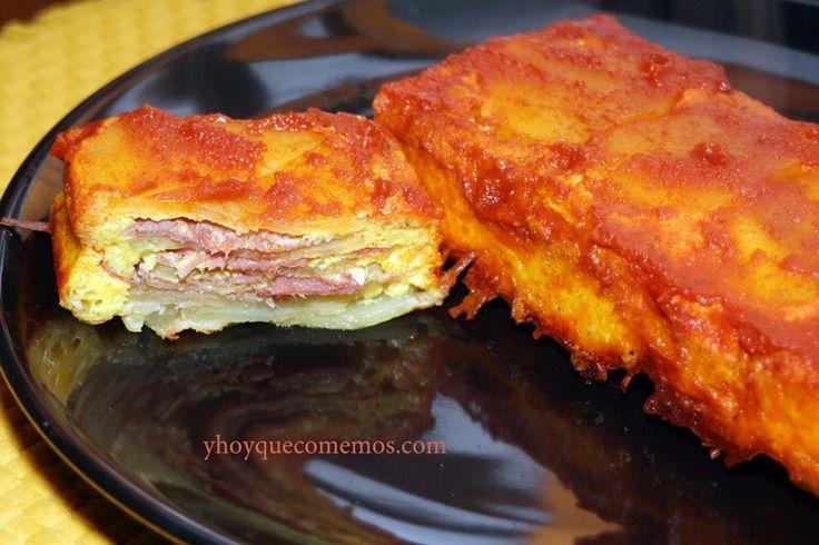 Pastel-de-patatas-y-jamón