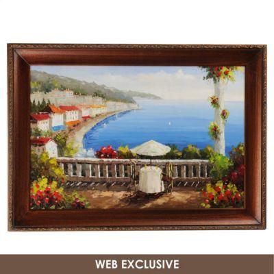 Mediterranean Rail Framed Art Print | Kirklands