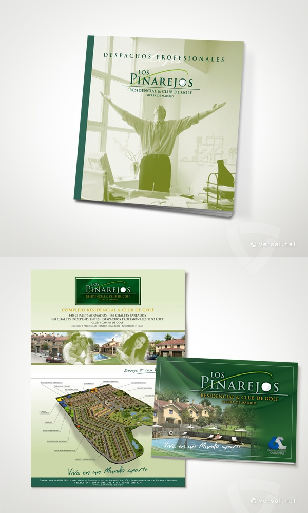 Los Pinarejos -   Conjunto Residencial & Club de Golf - Sierra de Madrid  (Campaña 2007)  Encarte Prensa y Folleto Lofts  - www.versal.net • Diseño Gráfico • Identidad Visual Corporativa • Publicidad • Diseño Páginas Web • Ilustración • Graphic Design • Corporate Identity • Advertising • Web Pages • Illustration • Logo