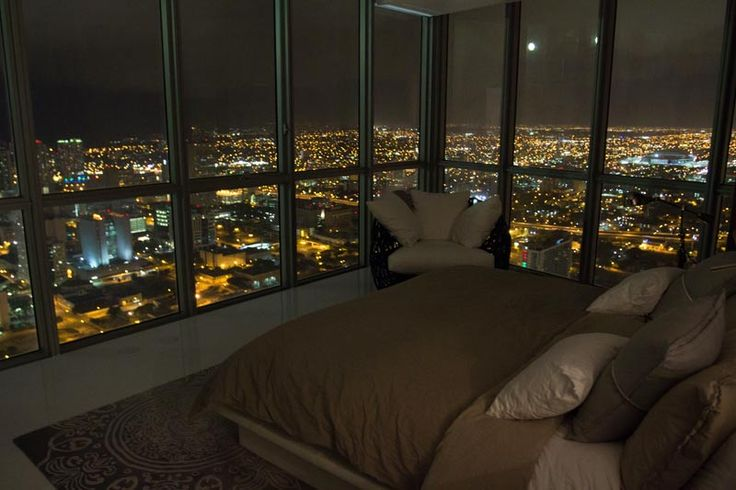 penthouse bedroom with a wow view!