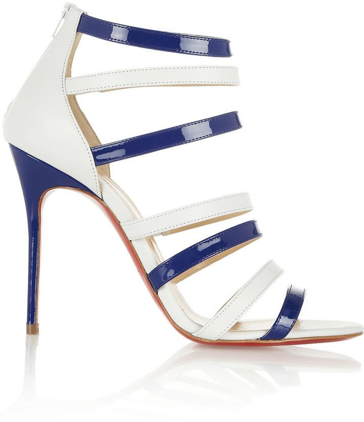 Christian Louboutin Mariniere 100 leather and patent-leather sandals