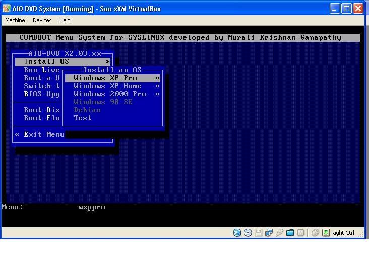 Windows 98 unattended boot installation
