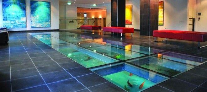 Floor aquarium living room flooring aquariums and for Floor fish tank