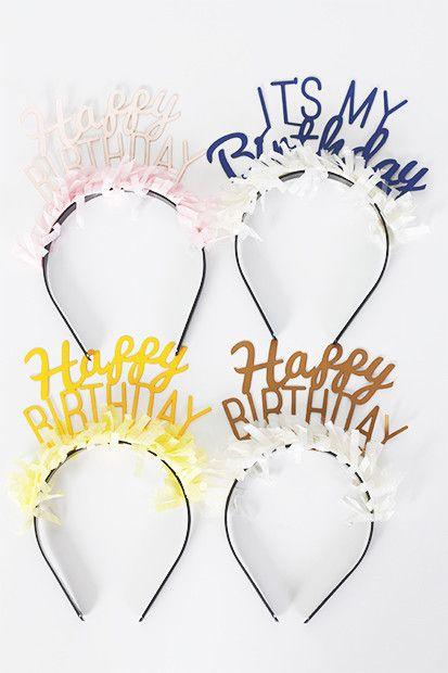 Happy Birthday Headband Pack