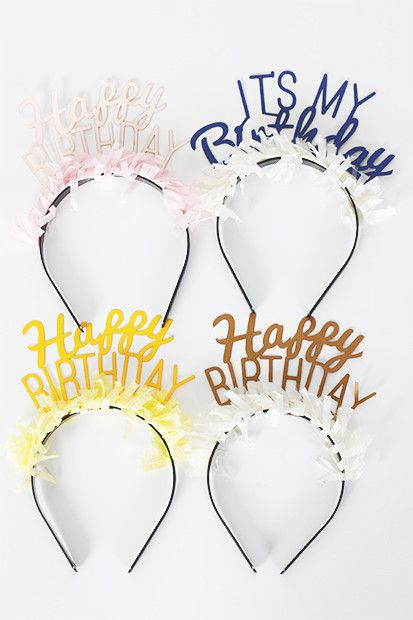 Happy Birthday Headband Pack