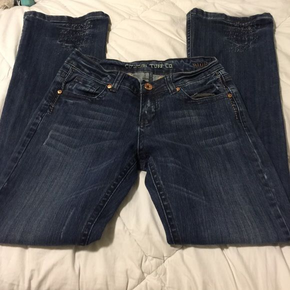 Cowgirl Tuff jeans Cowgirl Tuff jeans NWOT.  Size 28/33    Will trade for Miss Me jeans in 29/34 or 35 Cowgirl Tuff Jeans Boot Cut