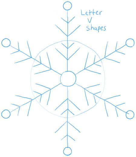Step step03 snowflakes 3 How to Draw Snowflake with Easy Drawing Lesson