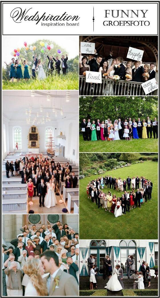 Inspiratie voor je bruiloft: funny groepsfoto - Pinterested @ http://wedspiration.com.
