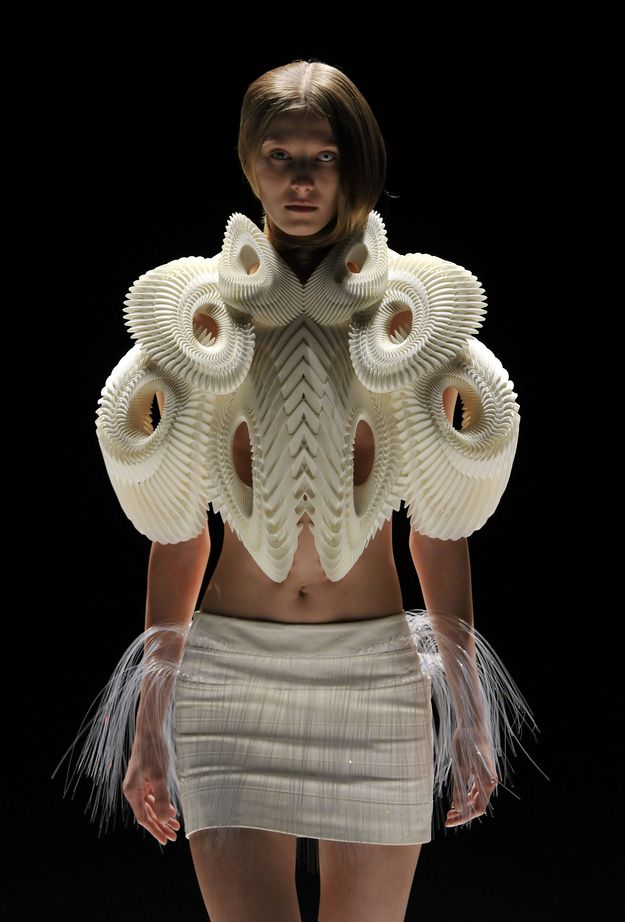 The spines of your enemies make a lovely tea dress in a violent yet elegant post-apocalypse. | 14 High Fashions Straight Out Of Our Dystopian Future