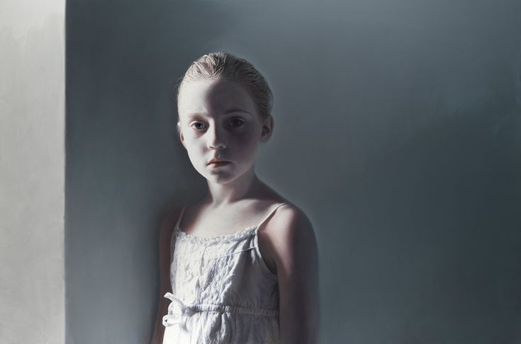 'The Murmer of the Innocents 2' Gottfried Helnwein (born 1948, Vienna) mixed media on canvas. Just saw this at the Nevada Museum of Art and incredible is an understatement.