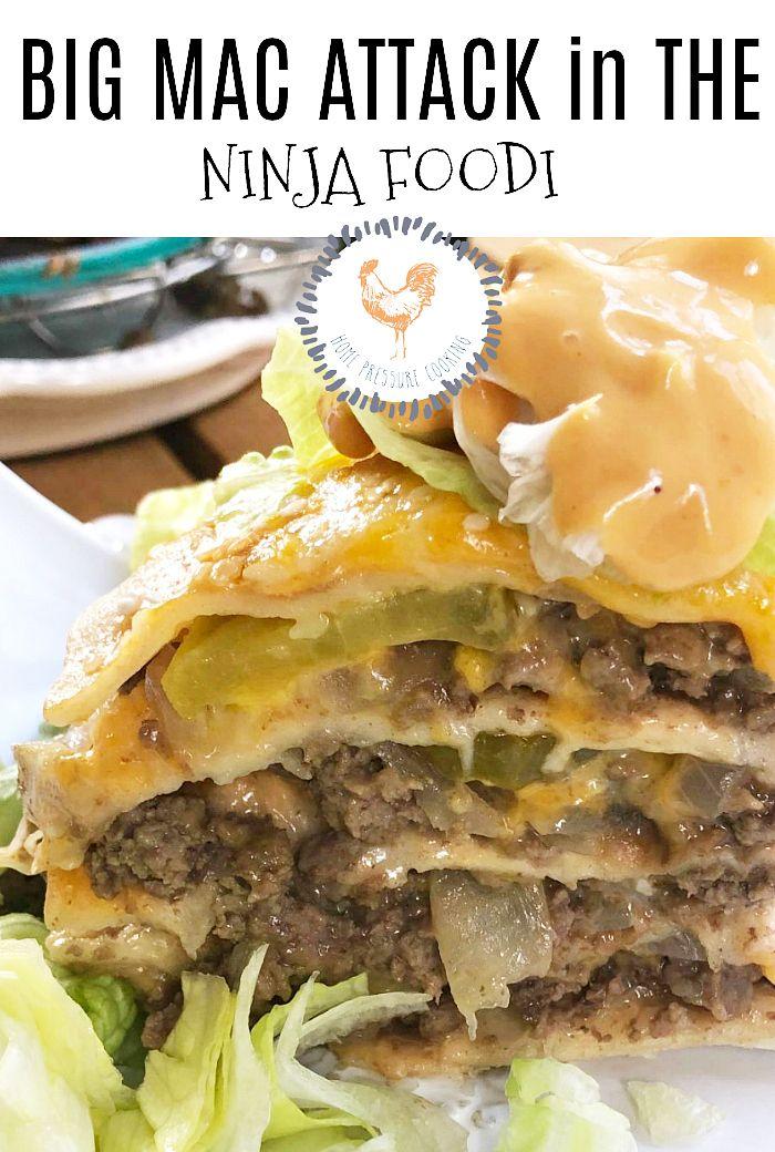 Big Mac Made In The Ninja Foodi Home Pressure Cooking