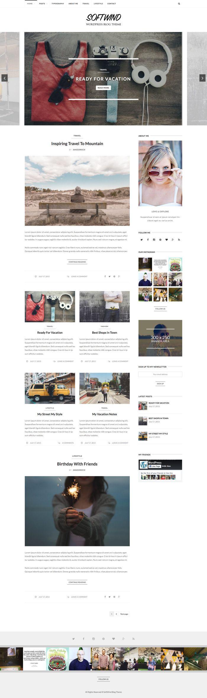 SoftWind – SEO Friendly WordPress Blog Theme