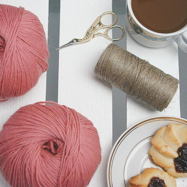 Cotton, crocheting, coffee, project, handmade