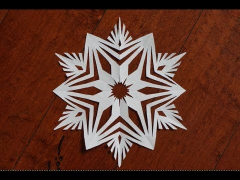 1738 best christmas crafting ideas images on pinterest for How to make a real paper snowflake