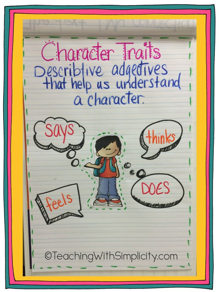 Students must understand character traits before being able to compare and contrast them!