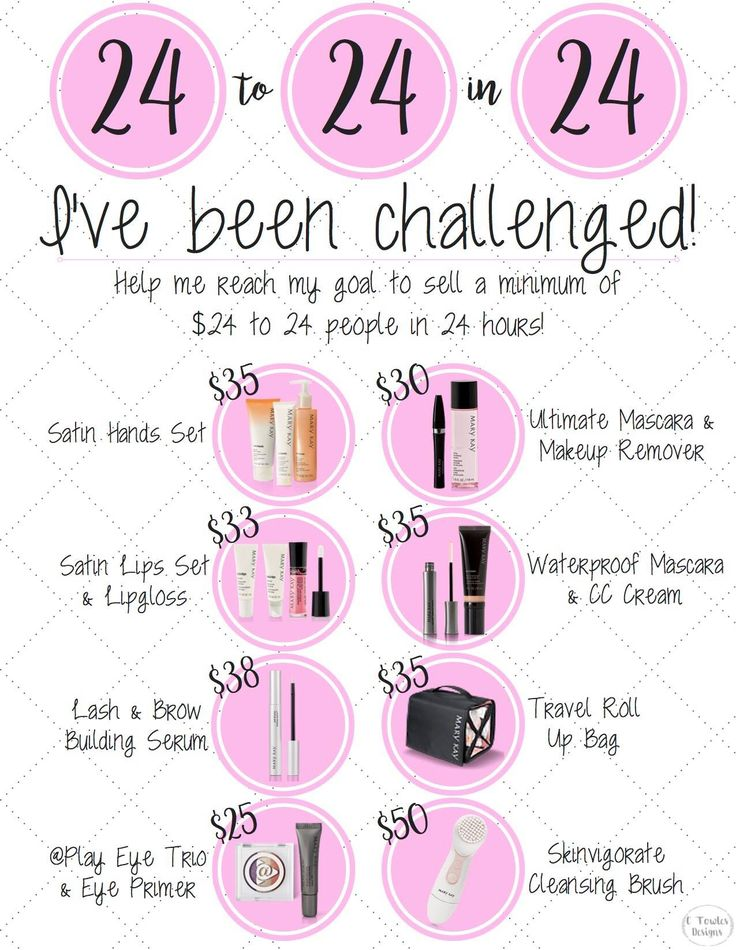 "Mary Kay 24 Challenge by ""C Towles Designs"" on Etsy!"