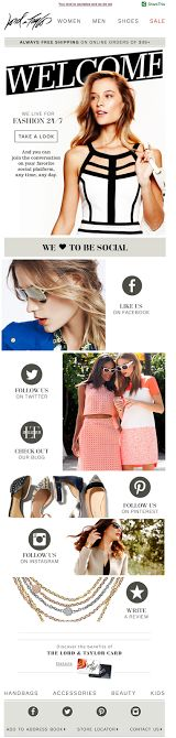 Lord & Taylor | welcome | WelcomeEmails | emailmarketing | email…